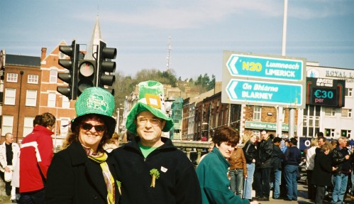 St Paddy's Day in Cork, at the parade, 2003