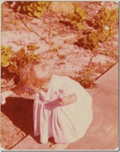 1977JessPickingFlowers