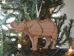 Greater one-horn ornament