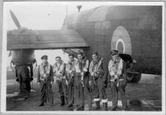 Ist left: Flt Lt J.A. Forde D.F.C. - Pathfinder Force 1942-1946