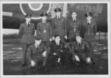 2nd Lef Back row: Flt Lt J.A. Forde D.F.C. - Pathfinder Force 1942-1946